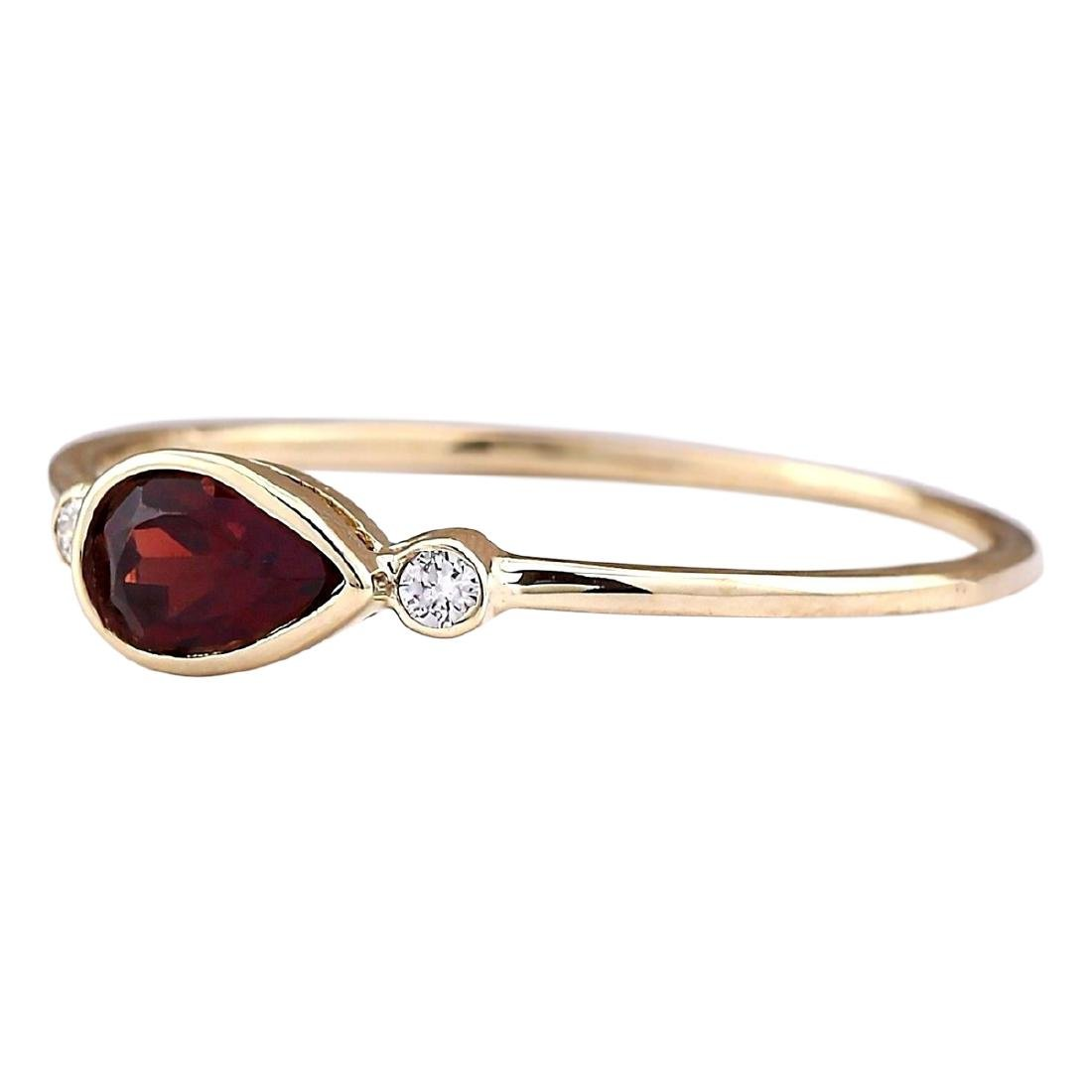0.56 CTW Natural Rhodolite Garnet Ring In 18K Yellow - 2
