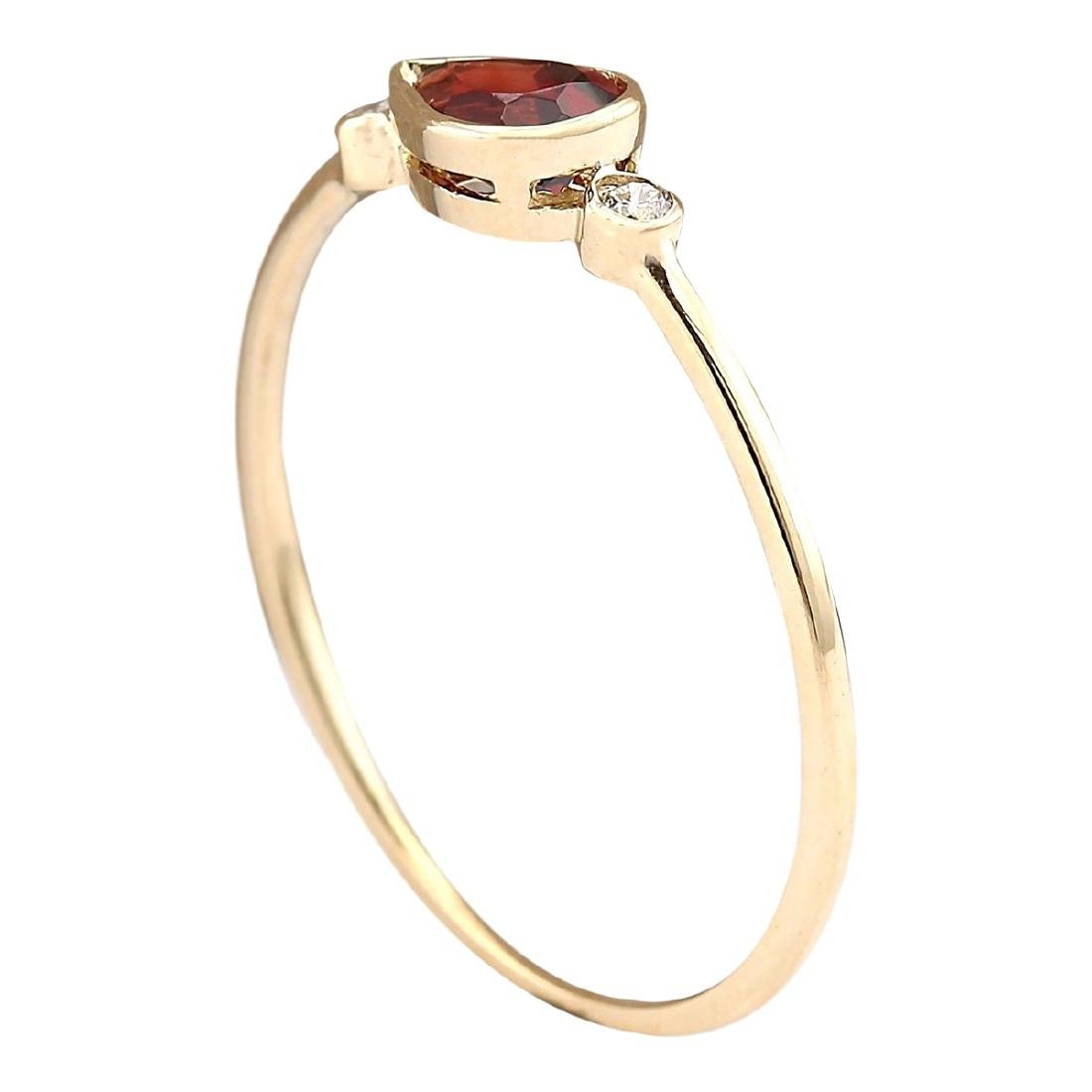 0.56 CTW Natural Rhodolite Garnet Ring In 18K Yellow - 3