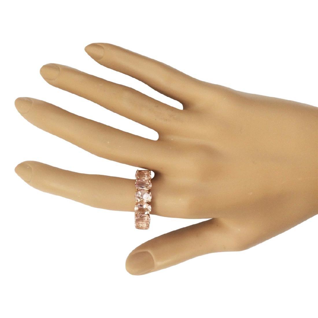 11.10 CTW Natural Morganite Ring In 18K Rose Gold - 4