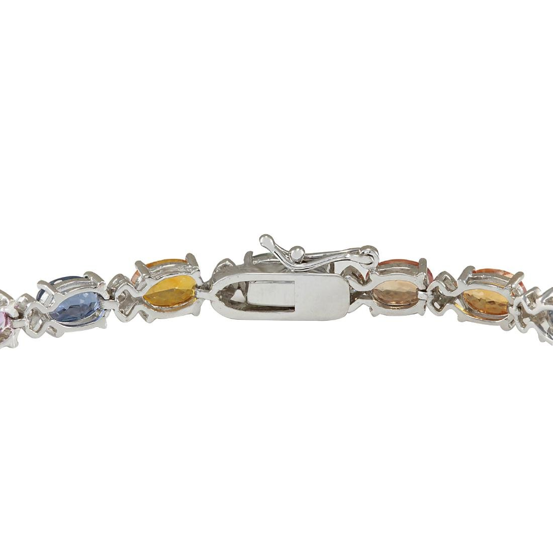 13.35CTW Natural Sapphire And Diamond Bracelet In 18K - 2