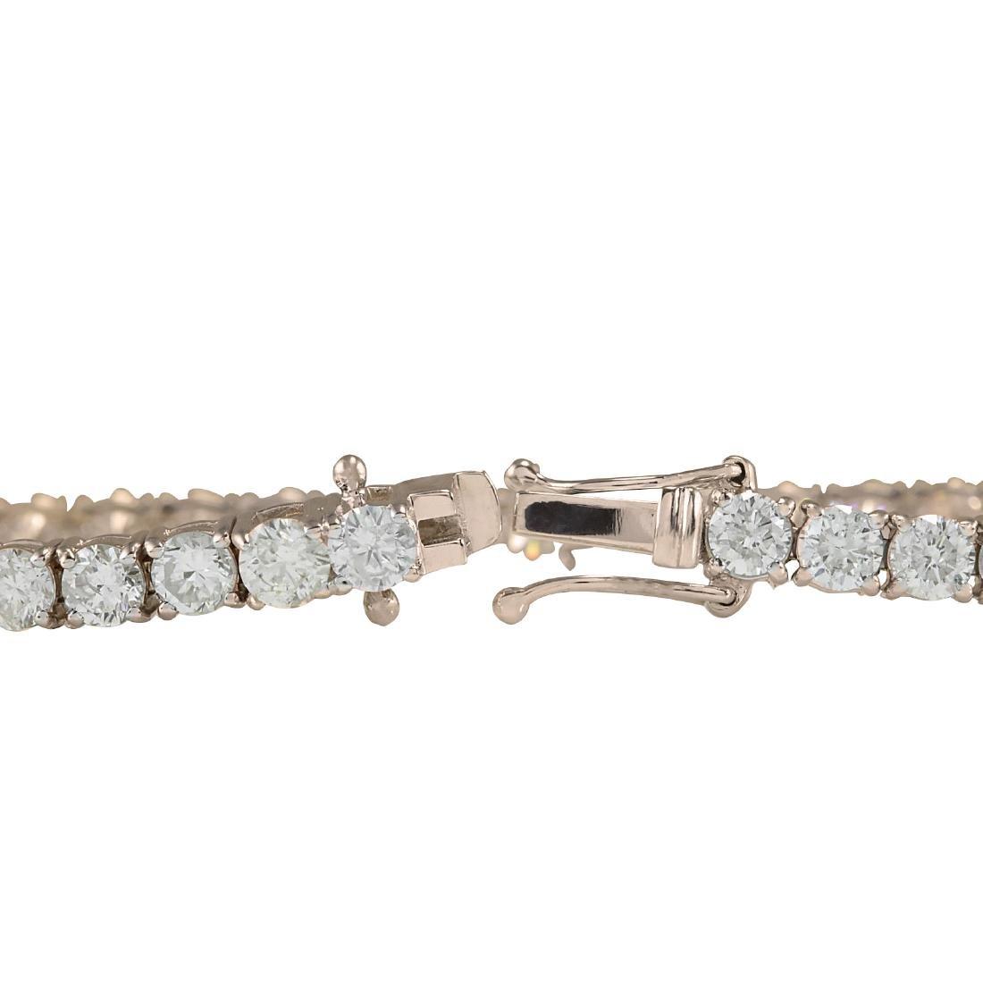 4.55CTW Natural Diamond Bracelet In 18K Rose Gold - 2