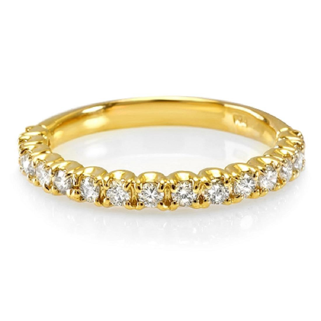 Mens 0.40 Carat Natural Diamond 18K Solid Yellow Gold