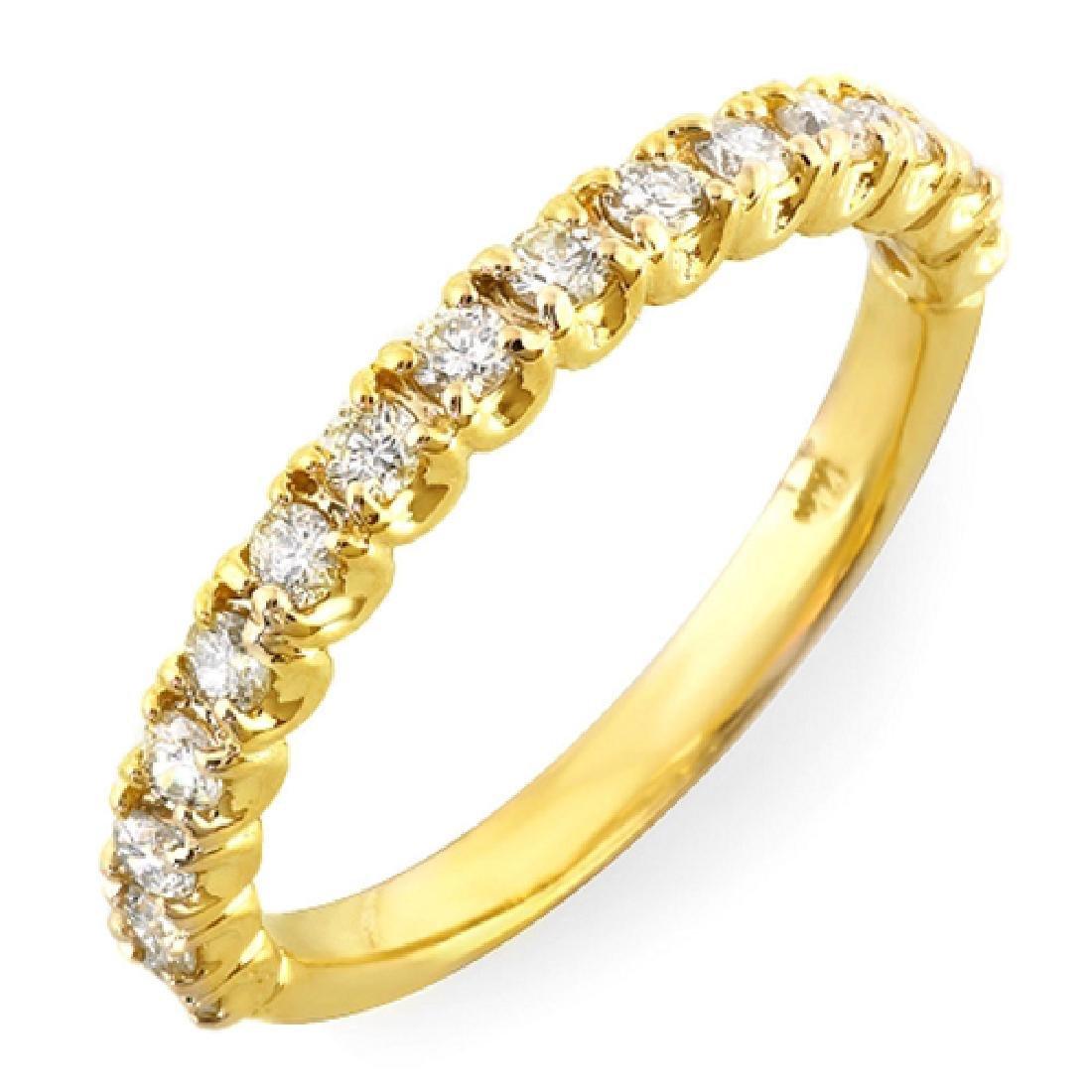 Mens 0.40 Carat Natural Diamond 18K Solid Yellow Gold - 2
