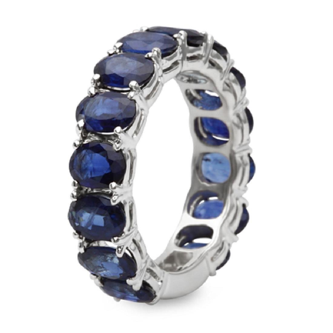 6.70 Carat Natural Sapphire 18K Solid White Gold  Ring - 2