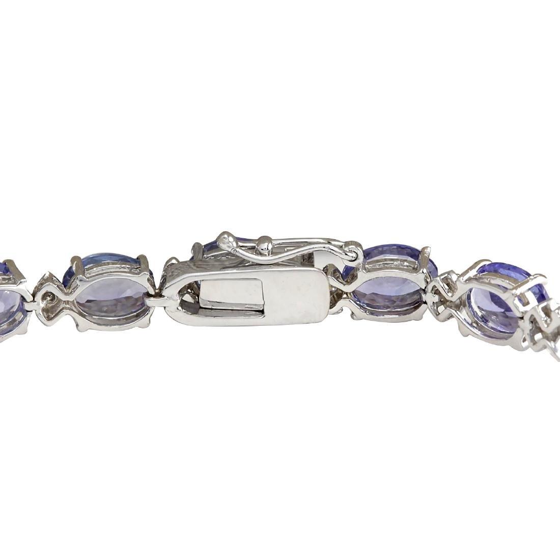 23.35CTW Natural Tanzanite And Diamond Bracelet In 18K - 2