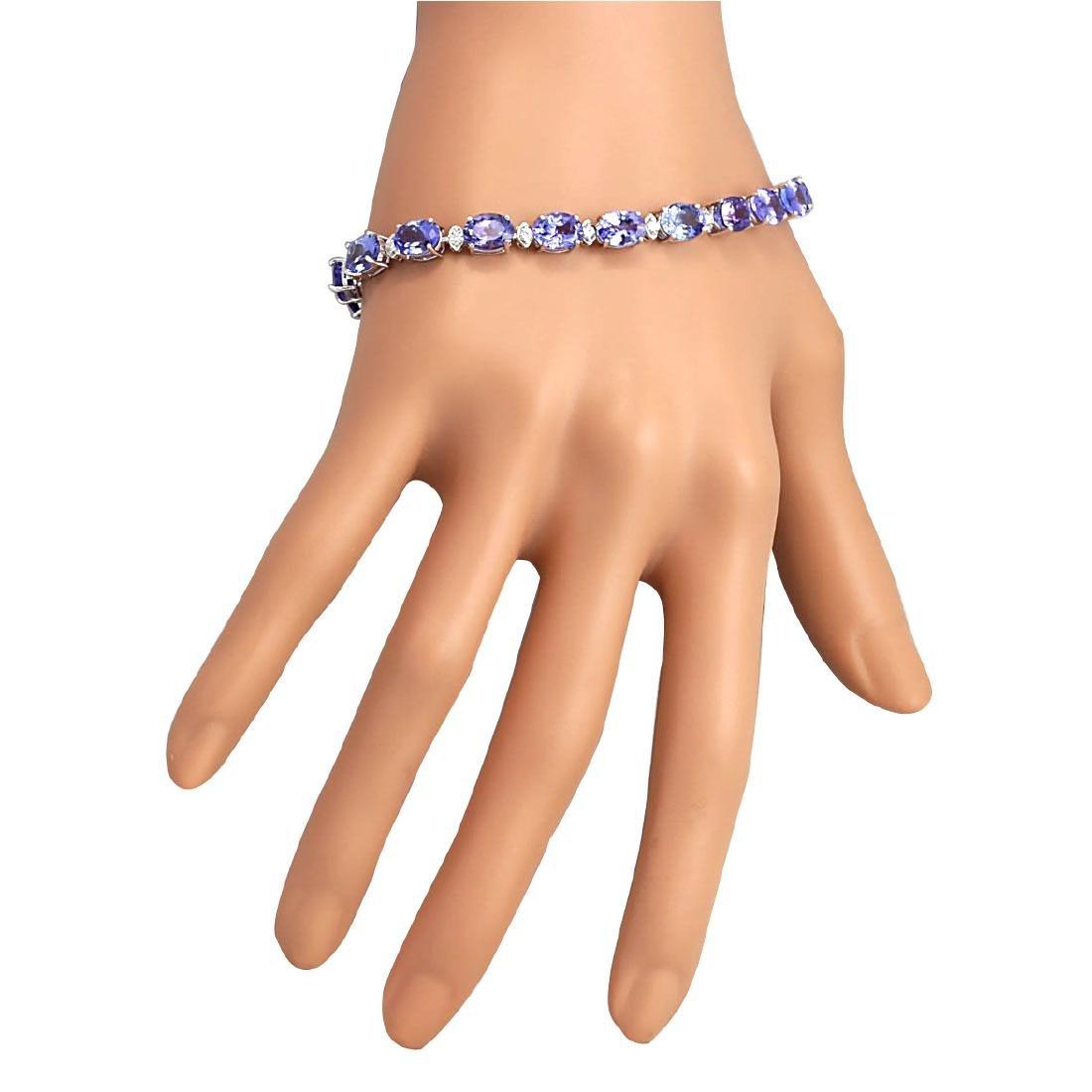23.35CTW Natural Tanzanite And Diamond Bracelet In 18K - 3