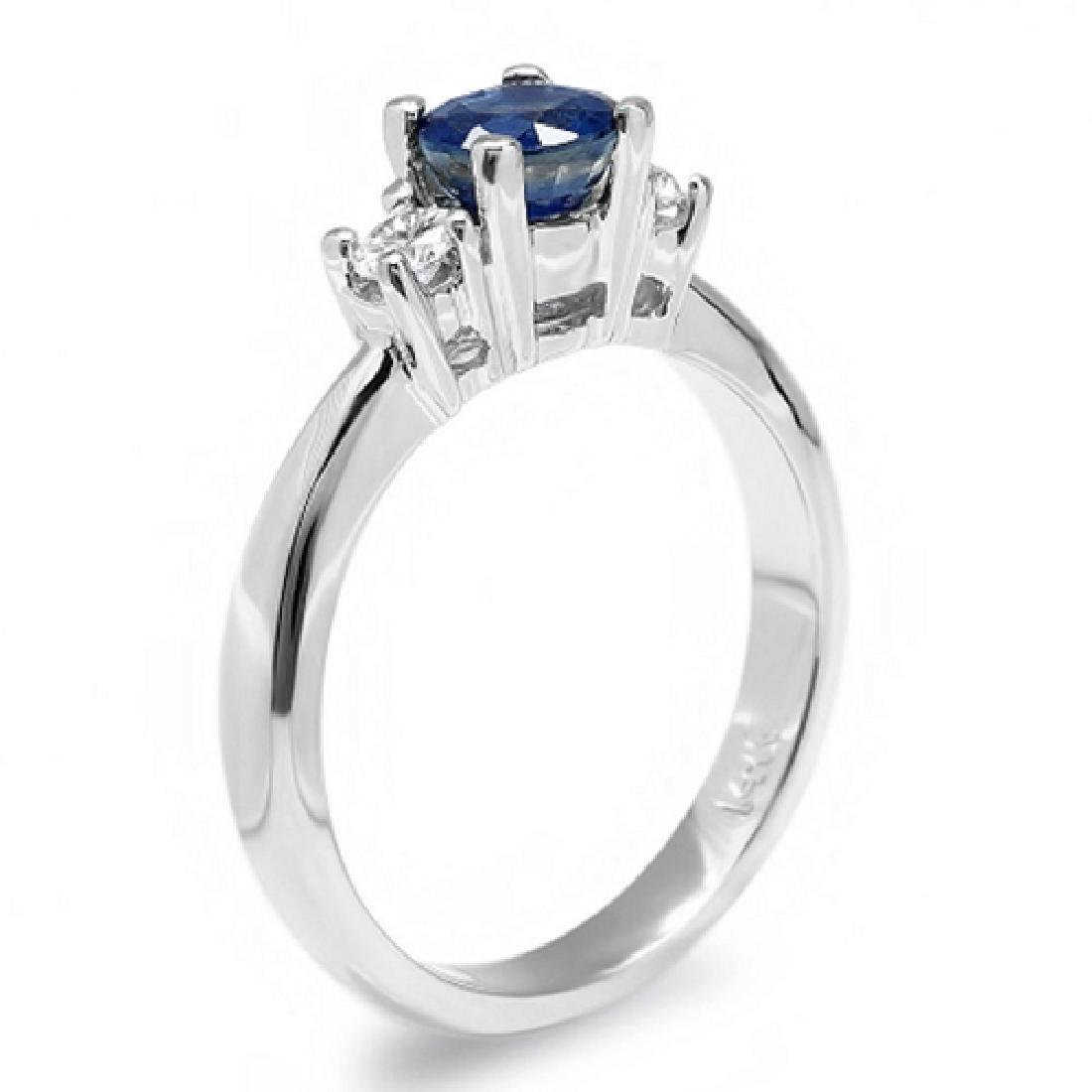 1.18 Carat Natural Sapphire 18K Solid White Gold - 2