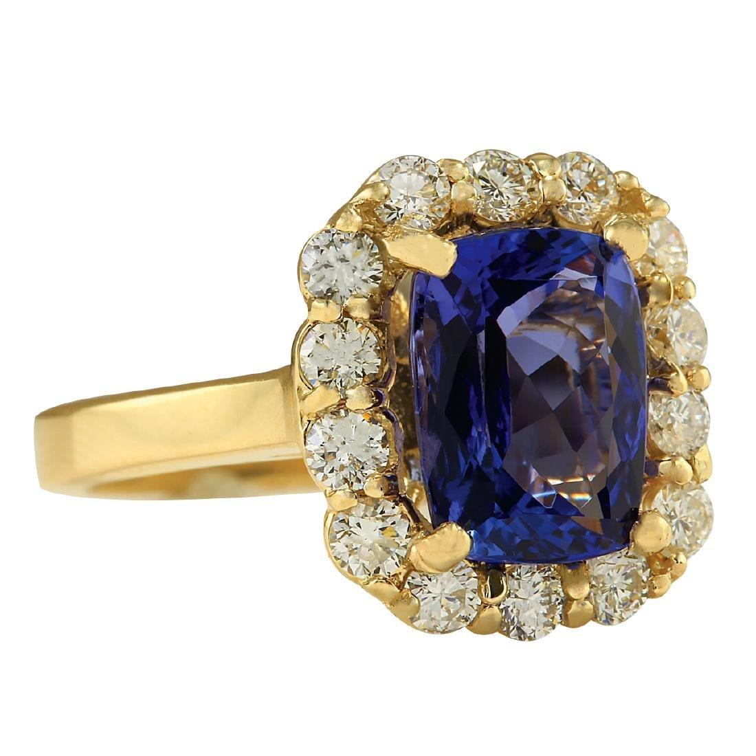 4.15CTW Natural Tanzanite And Diamond Ring In 18K - 2