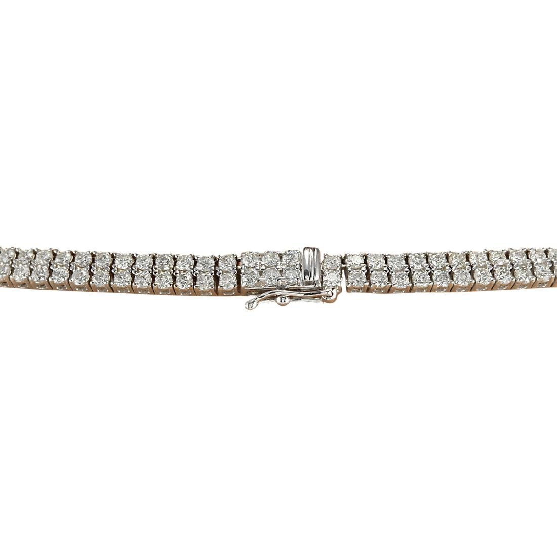 24.00 CTW Natural Diamond Necklace 18K Solid White Gold - 4