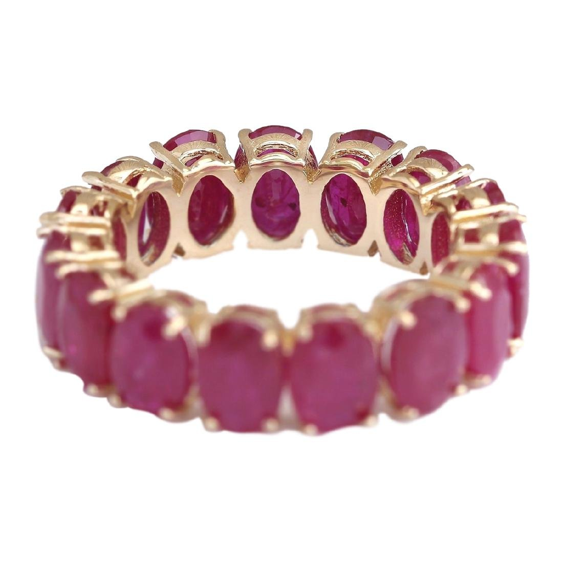 14.02 CTW Natural Ruby Ring In 18K Yellow Gold - 3