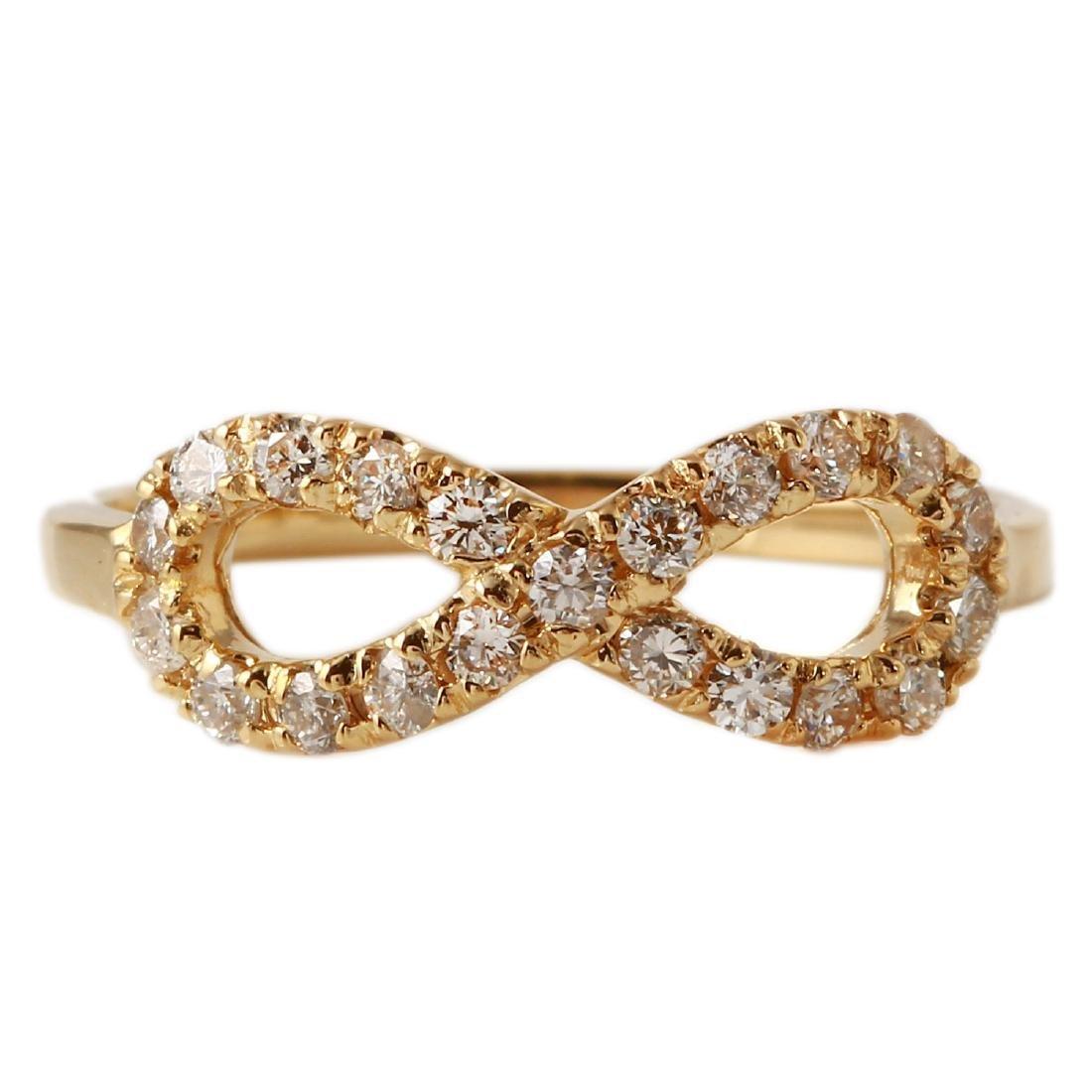 0.40 Carat Natural Diamond 18K Solid Yellow Gold Ring