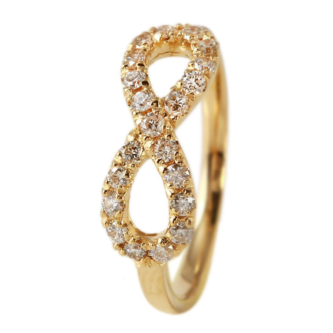 0.40 Carat Natural Diamond 18K Solid Yellow Gold Ring - 2