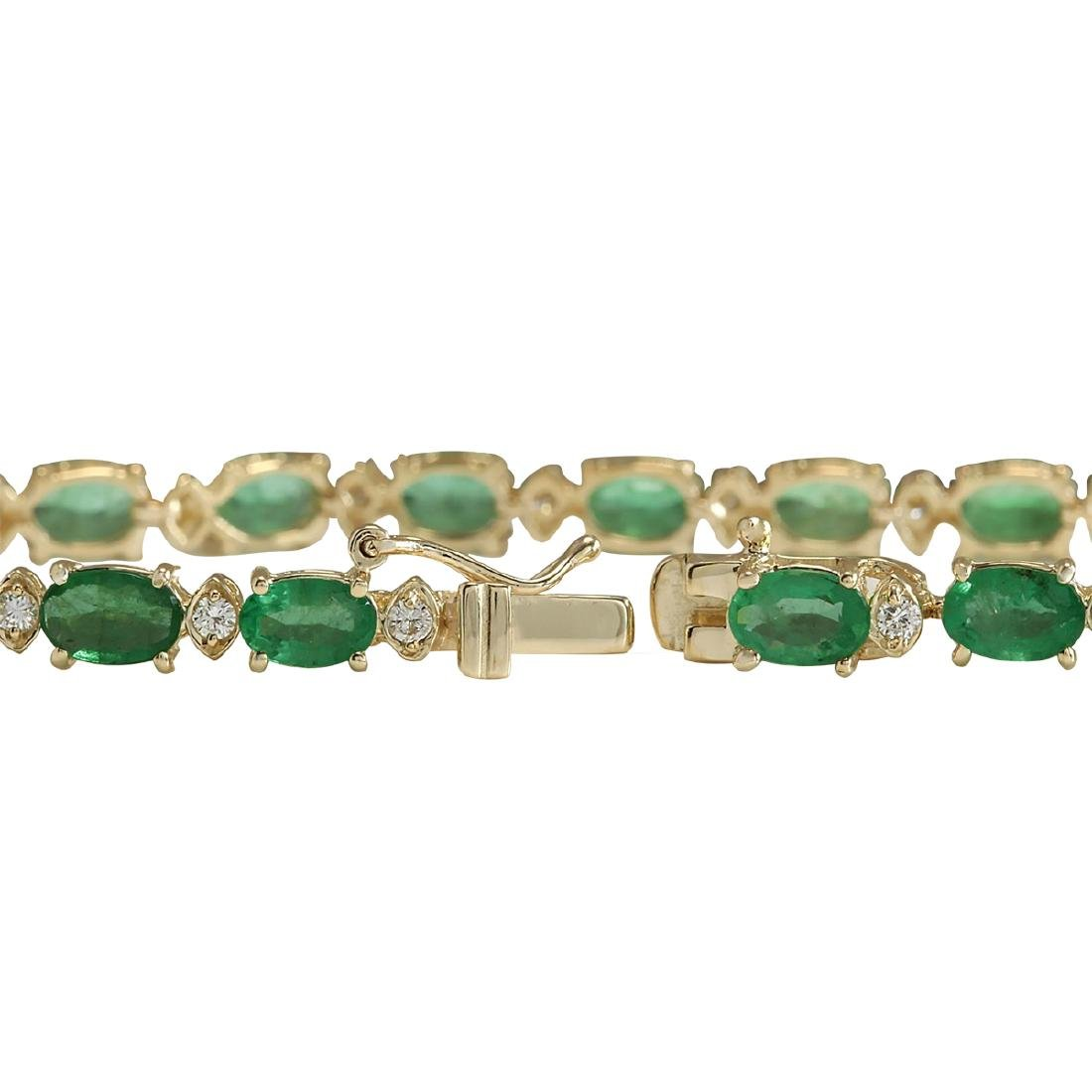 8.86CTW Natural Colombian Emerald And Diamond Bracelet - 2