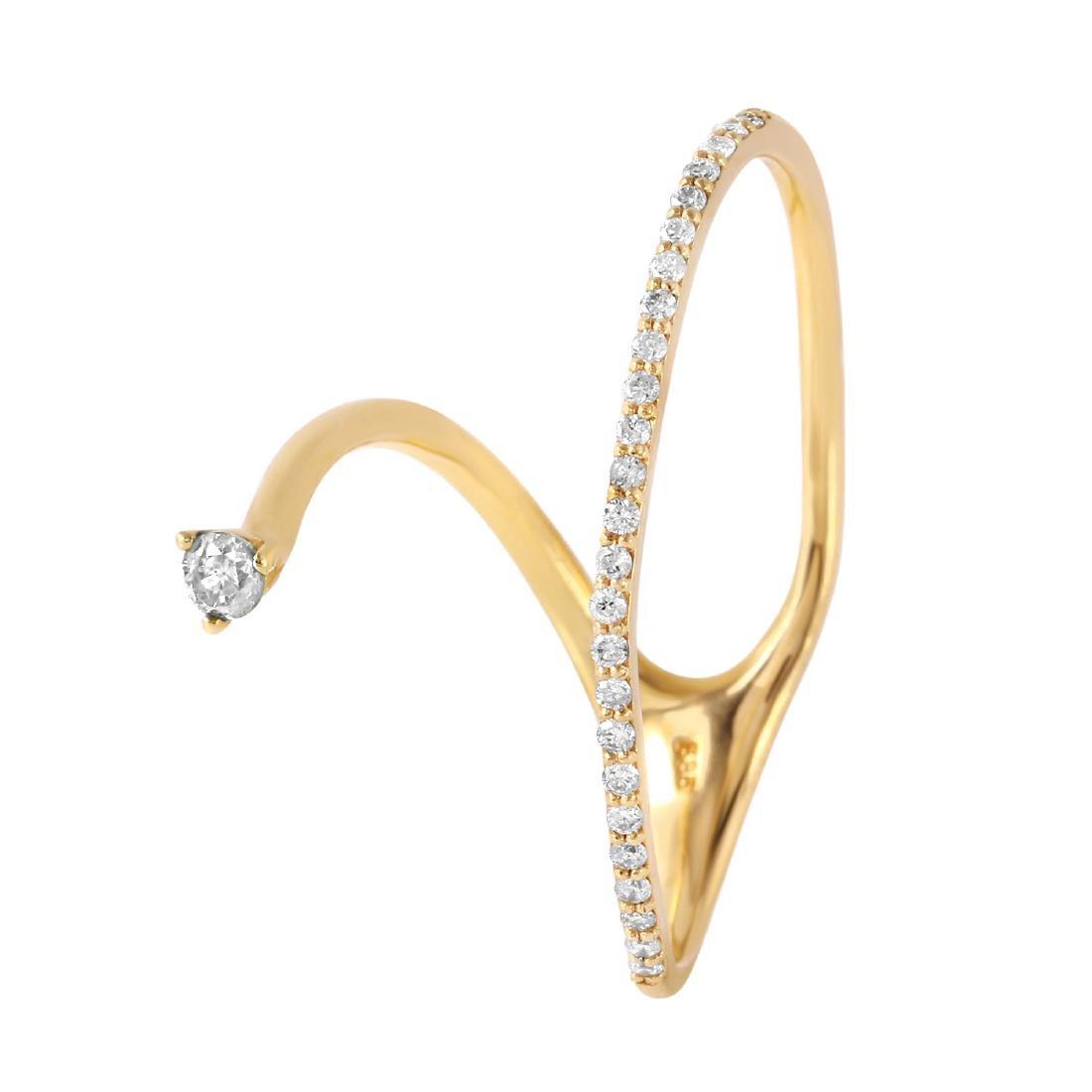 0.25 Carat Natural Diamond 18K Solid Yellow Gold Ring