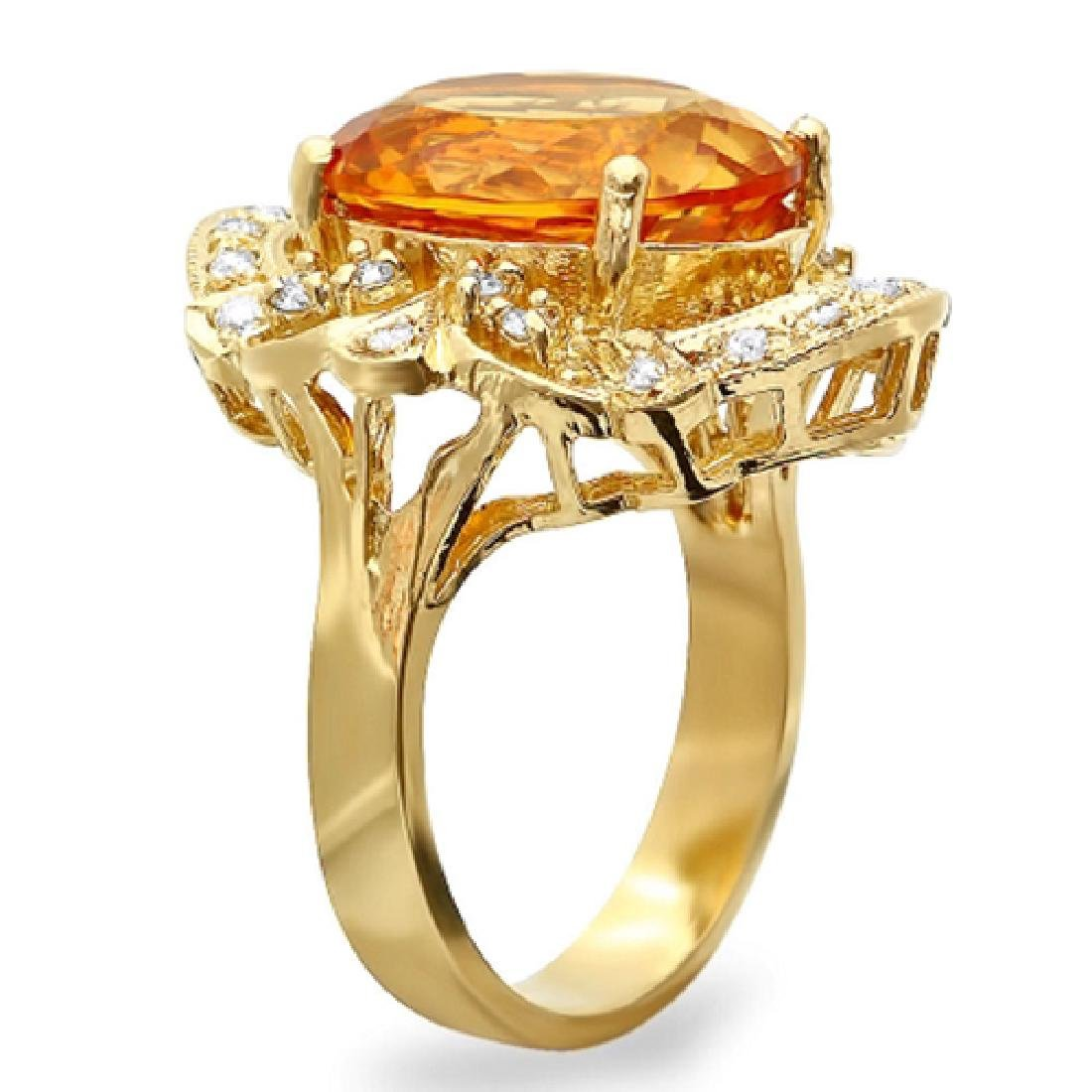 6.84 Carat Natural Citrine 18K Solid Yellow Gold - 2