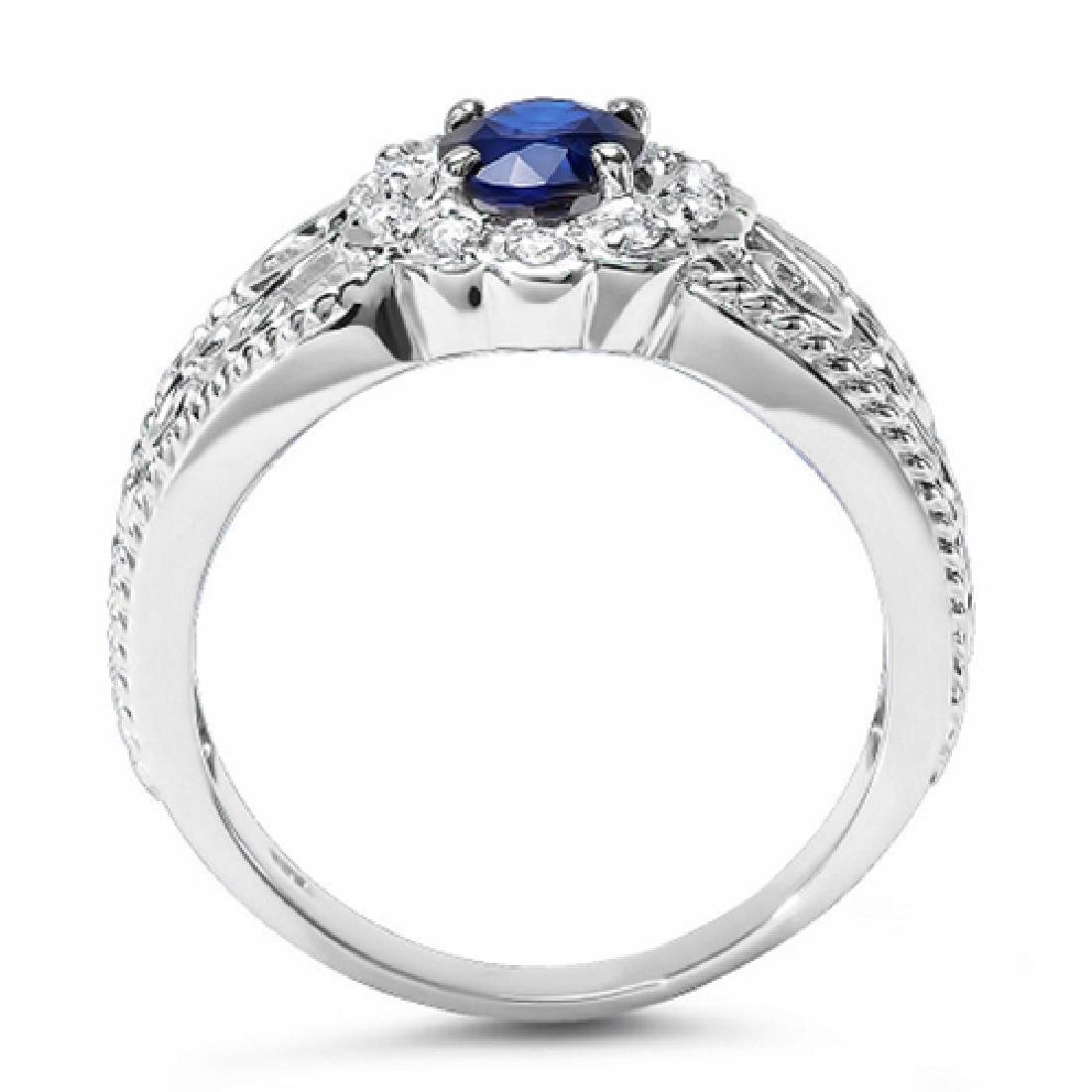 1.20 Carat Natural Tanzanite 18K Solid White Gold - 2