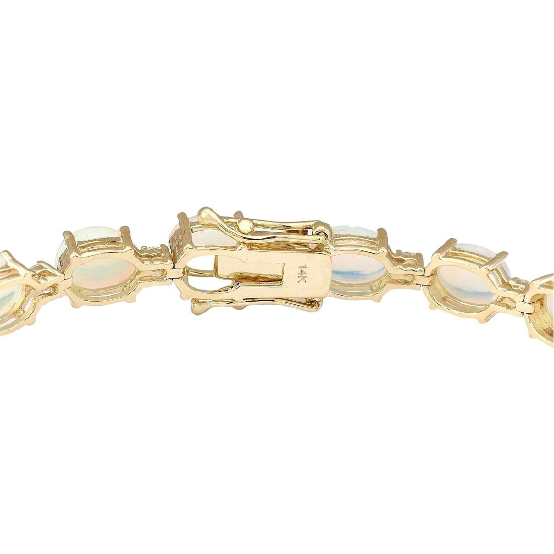 13.80 CTW Natural Opal And Diamond Bracelet In 18K - 2