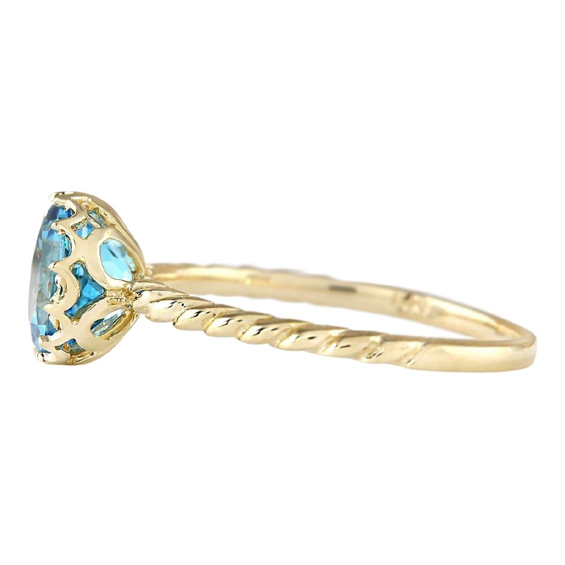 1.50 CTW Natural Blue Topaz Ring In 18K Yellow Gold - 2