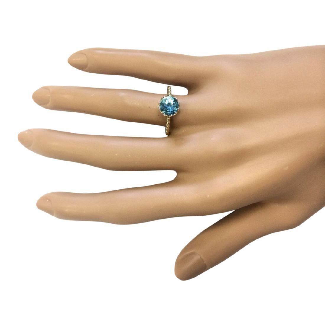 1.50 CTW Natural Blue Topaz Ring In 18K Yellow Gold - 4