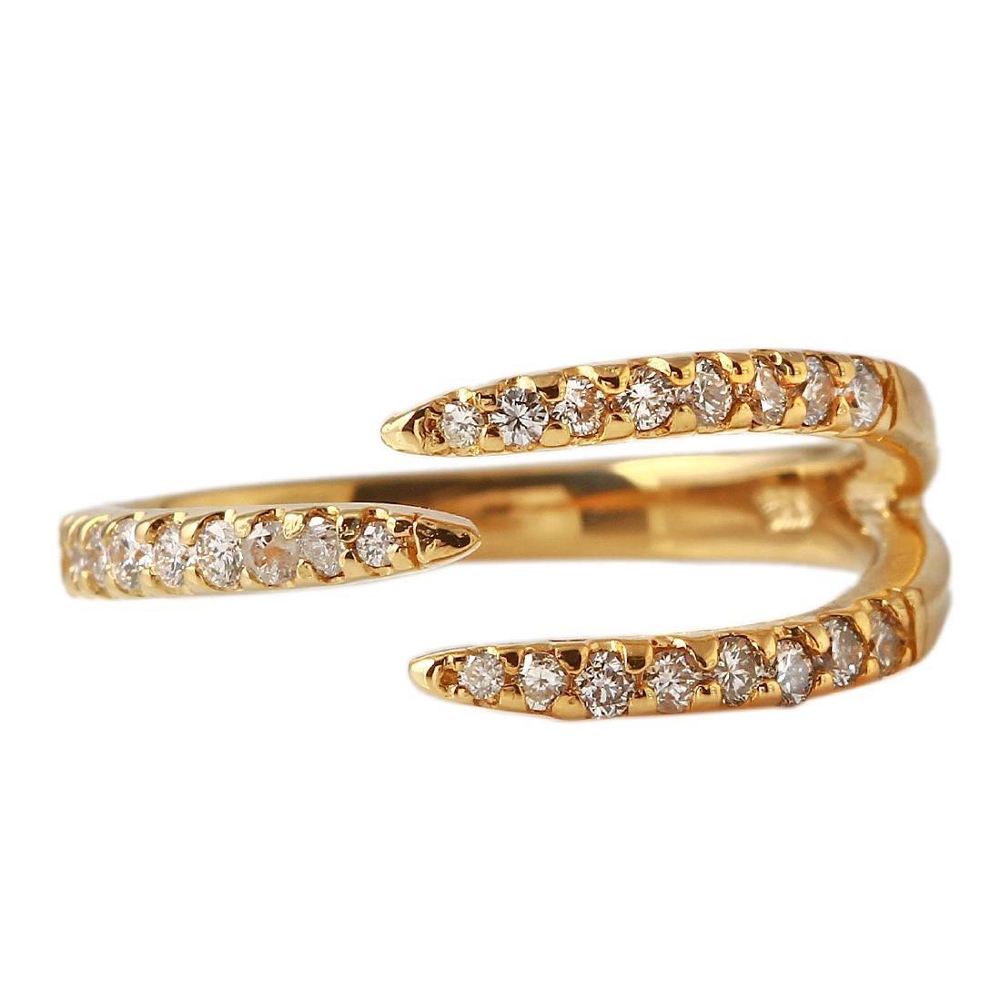 0.32 Carat Natural Diamond 18K Solid Yellow Gold Ring