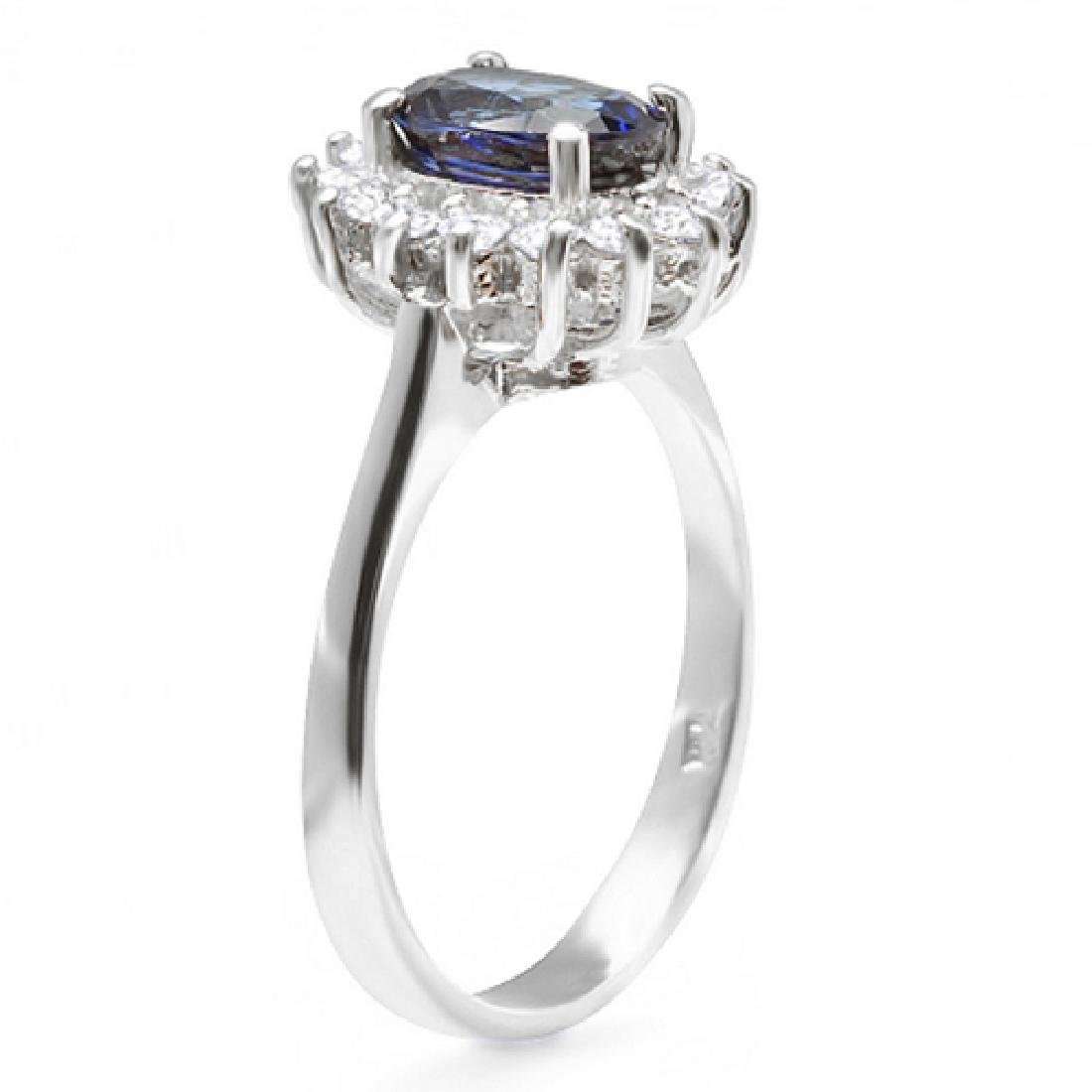 1.90 Carat Natural Sapphire 18K Solid White Gold - 2