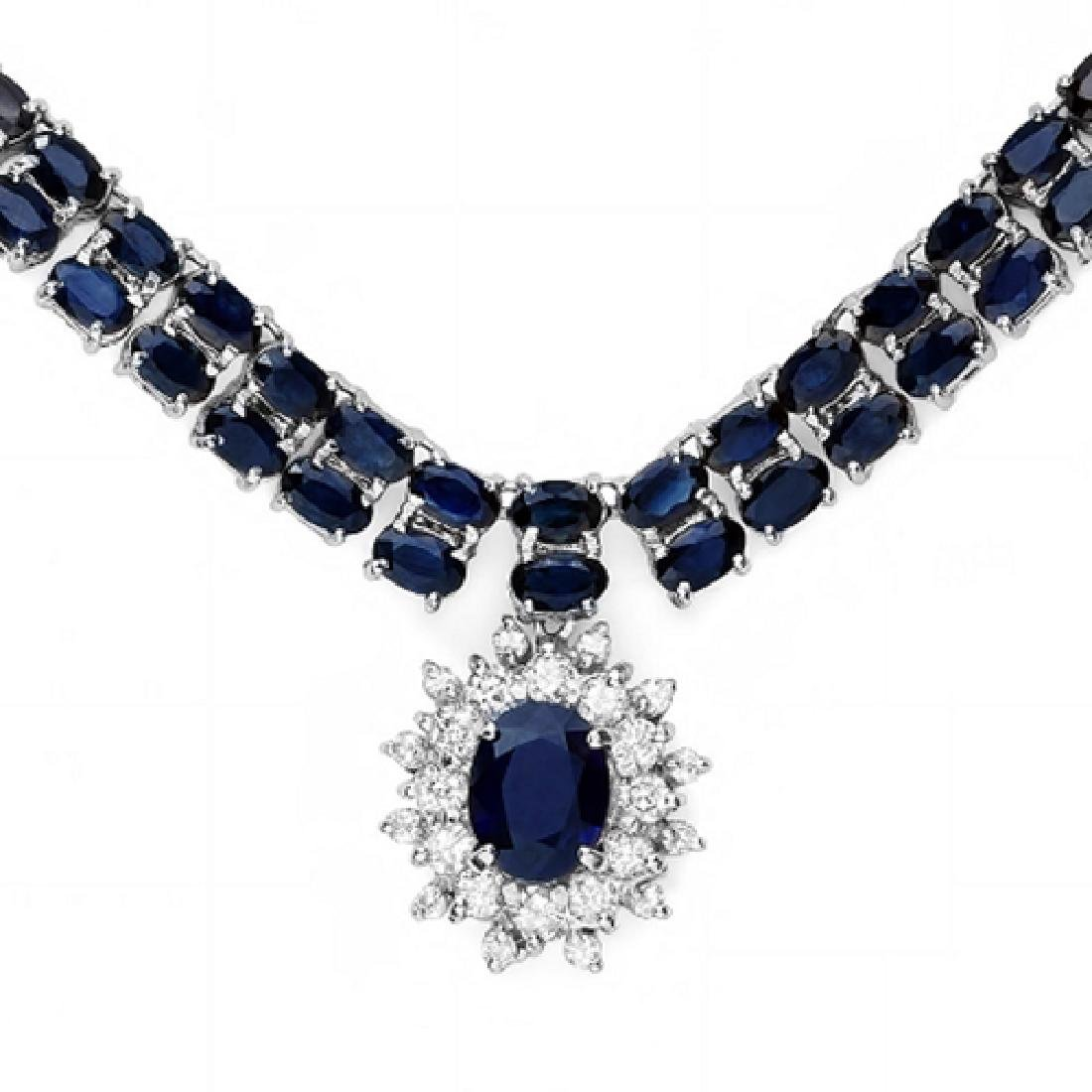 59.23 Carat Natural Sapphire 18K Solid White Gold