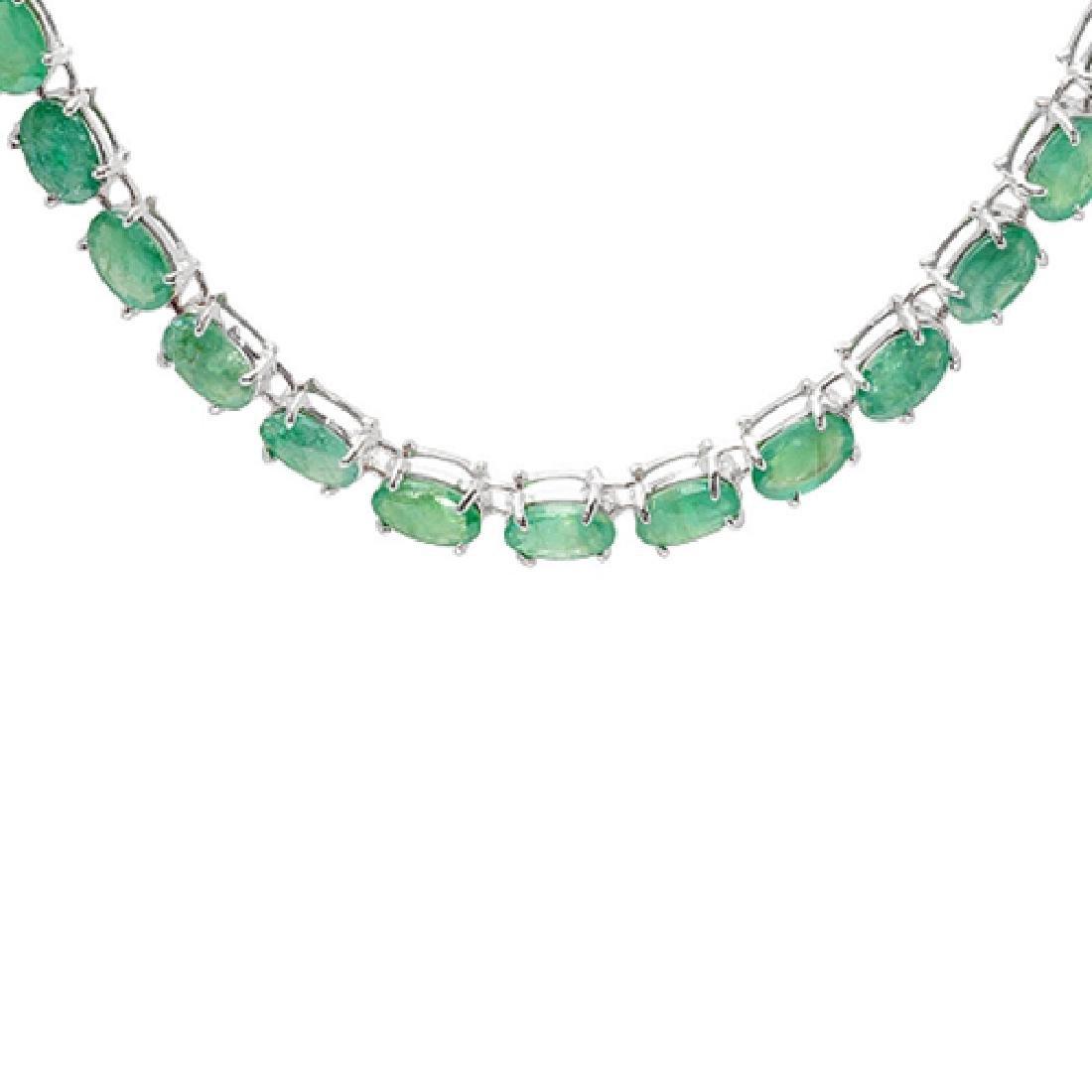 30.70 Carat Natural Emerald 18K Solid White Gold - 2
