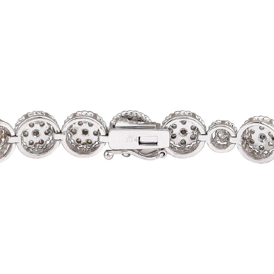 3.75 CTW Natural Diamond Bracelet In 18K White Gold - 2