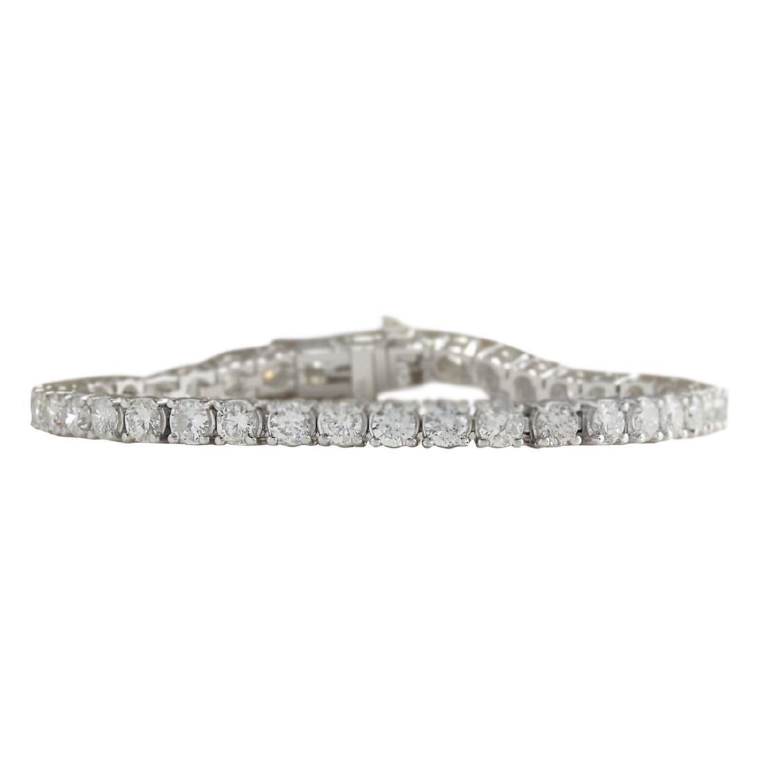 10.00 CTW Natural Dimond Bracelet In 18K Solid White