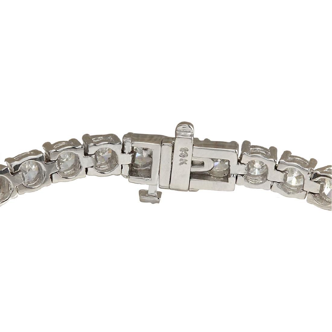 10.00 CTW Natural Dimond Bracelet In 18K Solid White - 2