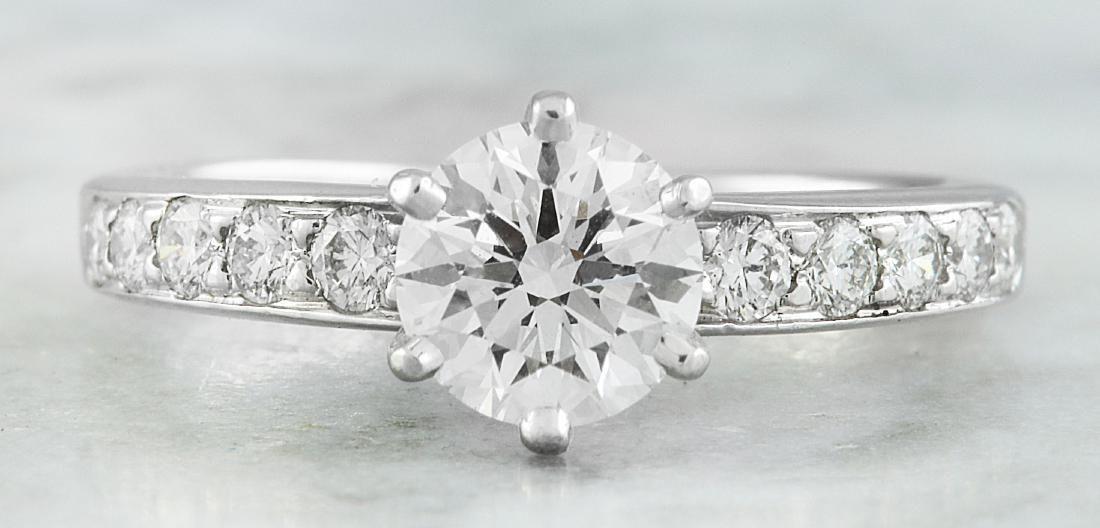 Authentic 1.16 Carat Tiffany&Co Platinum Diamond Ring