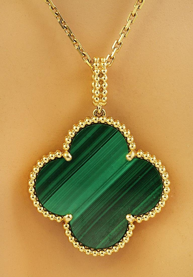 Authentic Van Cleef Alhambra 18K Yellow Gold Necklace