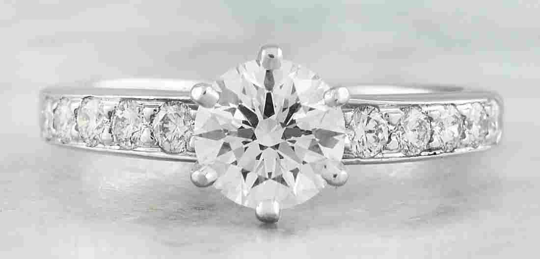 Authentic 1.16 Carat Tiffany&Co Platinum Diamond Ring