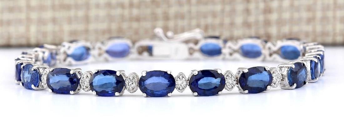 16.96 CTW Natural Sapphire And Diamond Bracelet In 18K