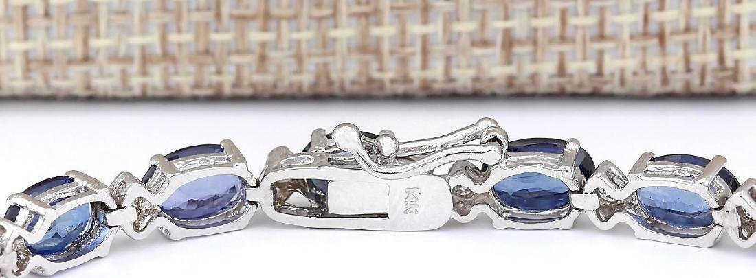 16.96 CTW Natural Sapphire And Diamond Bracelet In 18K - 2
