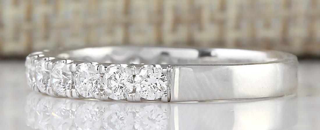 .80 CTW Natural Diamond Ring 18K Solid White Gold - 2