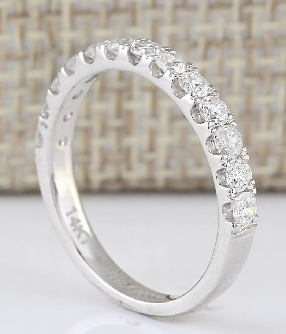.80 CTW Natural Diamond Ring 18K Solid White Gold - 3