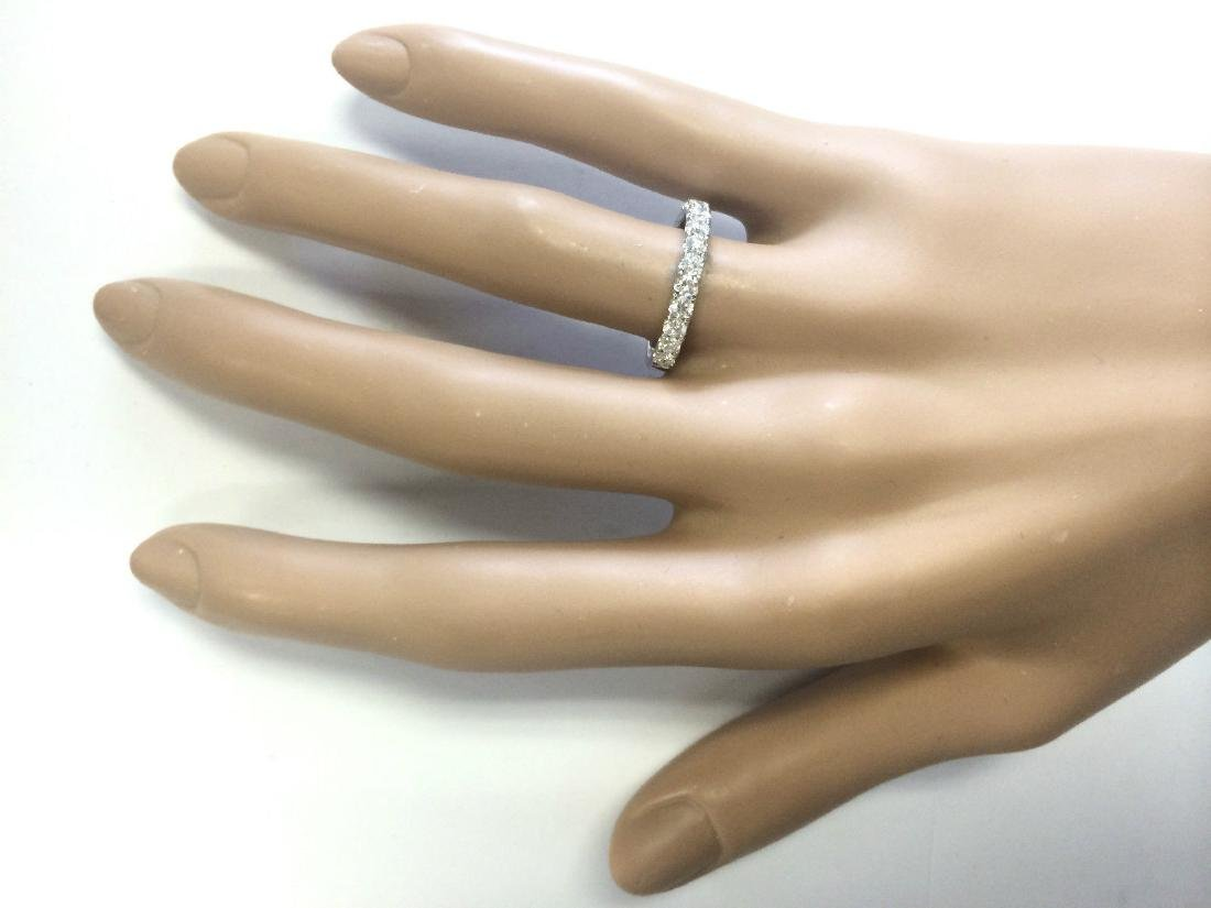 .80 CTW Natural Diamond Ring 18K Solid White Gold - 4