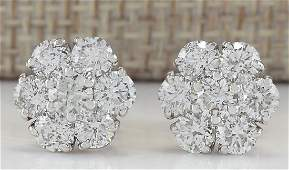 280CTW Natural Diamond Earrings 18K Solid White Gold