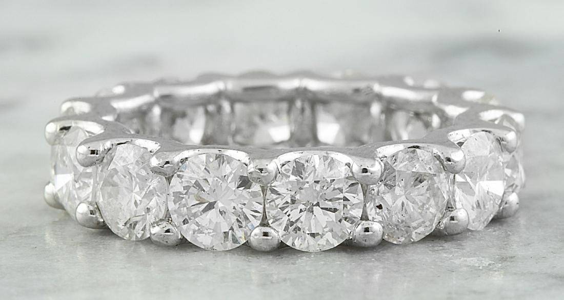 6.30 Carat Diamond 18K White Gold Ring