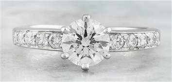 Authentic 116 Carat TiffanyCo Platinum Diamond Ring