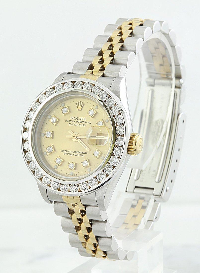 Rolex Oyster Perpetual Datejust Diamond Watch - 2
