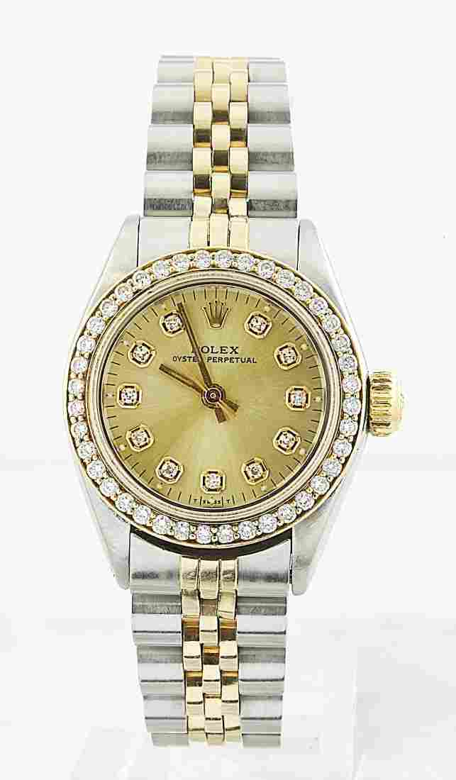 Rolex Oyster Perpetual 14K White Gold Watch