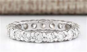 240 Carat Natural Diamond Ring In 14k White Gold