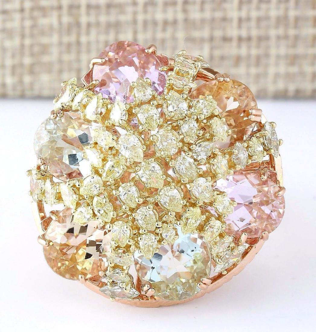 25.36 Carat Natural Multi Stone Morganite Kunzite