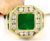 595 Carat Natural Emerald 18k Solid Yellow Gold