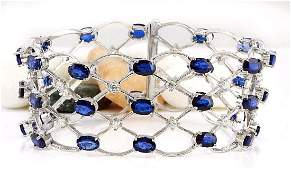 21.97 Carat Natural Sapphire 18k Solid White Gold