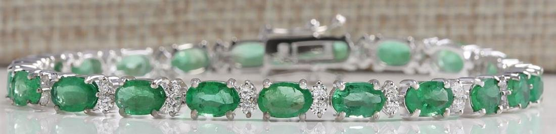 10.17 CTW Natural Colombian Emerald And Diamond