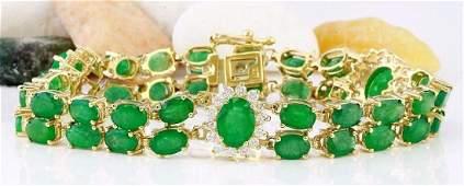 2070 Carat Natural Emerald 18K Solid Yellow Gold