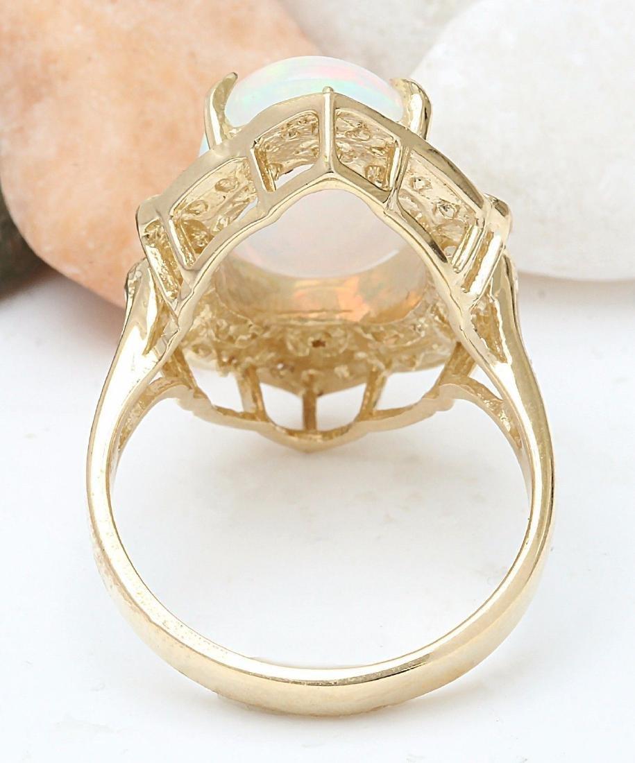 9.05 Carat Natural Opal 18K Solid Yellow Gold Diamond - 3